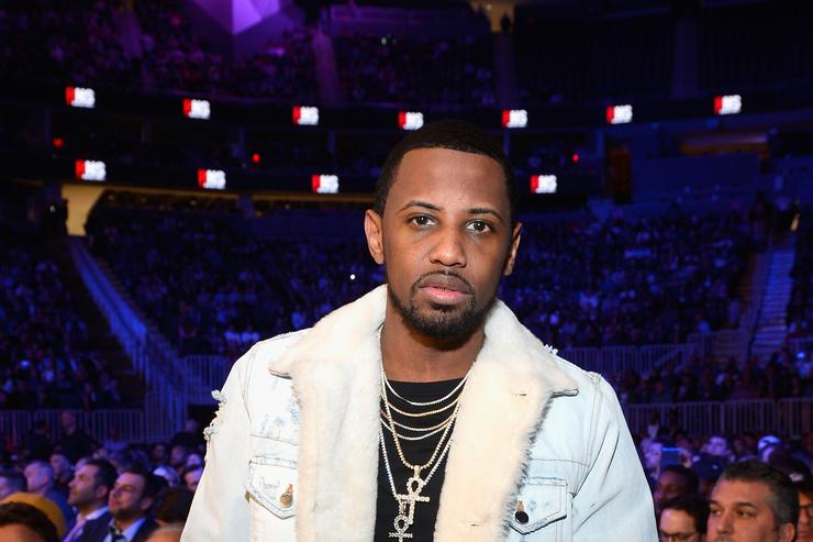 Rapper Fabolous sits in the audience during Kovalev vs. Ward and D'USSE Lounge at T-Mobile Arena on November 19, 2016 in Las Vegas, Nevada.