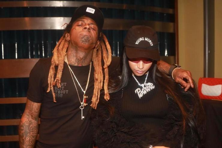 Nicki Minaj and Lil Wayne in the studio