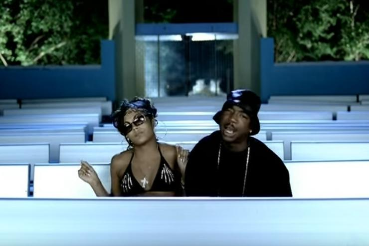 """Ashanti and Ja Rule in """"Always on Time"""" music video"""