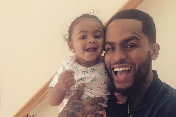 Dave East and his daughter Kairi.