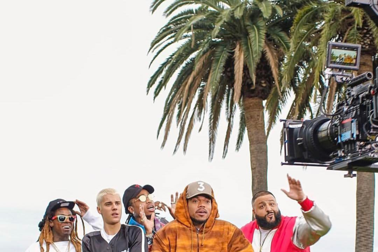 "DJ Khaled, Justin Bieber, Chance the Rapper, Lil Wayne & more at 'Im The One"" video shoot"