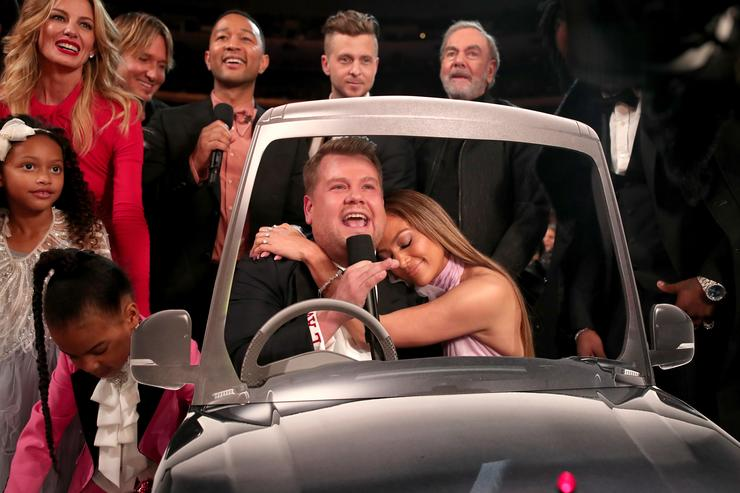 James Corden at 59th Grammys