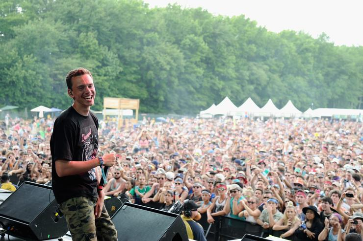 Logic performing at firefly festival
