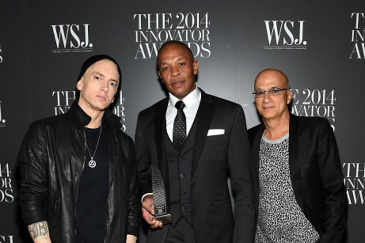 Eminem, Jimmy Iovine, and Dr. Dre at WSJ Magazine 2014 Innovator Awards