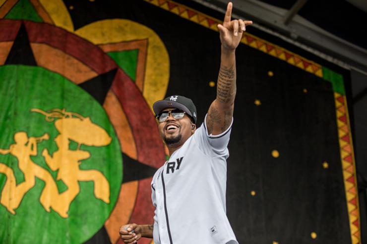 Nas at New Orleans Jazz & Heritage Festival.