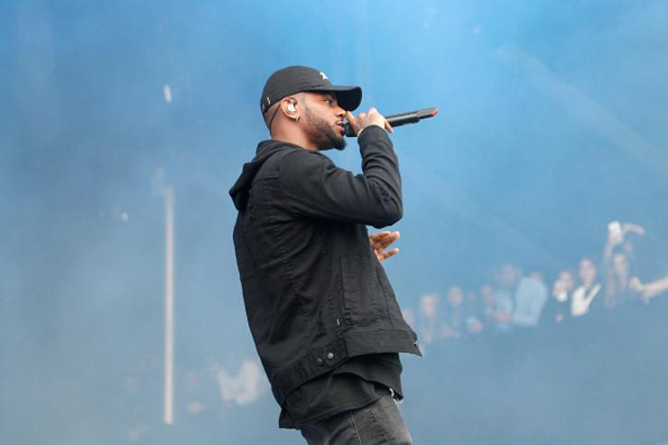 Bryson Tiller performing at The Meadows