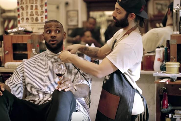 Image result for espn  lebron james the shop