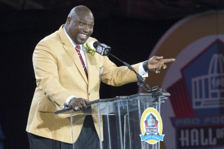 Warren Sapp at Hall of Fame induction