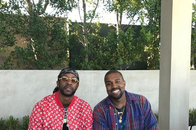 2 chainz and kanye west at dinner over 4th of july weekend 2017