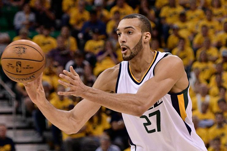 Rudy Gobert Golden State Warriors v Utah Jazz - Game Three