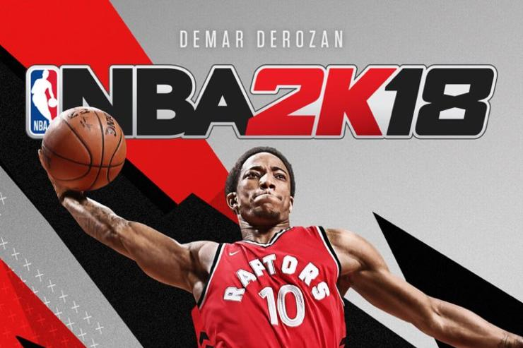 DeMar DeRozan on cover of inaugural Canada-released National Basketball Association 2K18