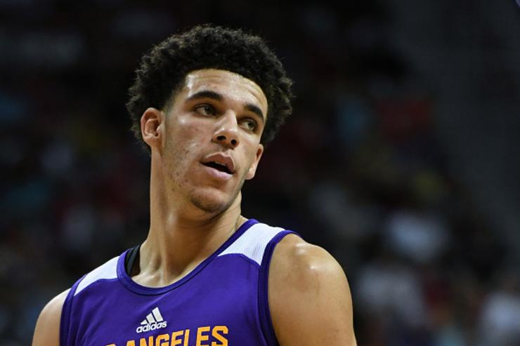 Dad: Lonzo Ball wearing different shoes is a statement to brands