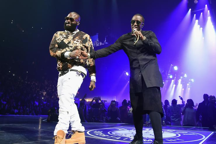 Rick Ross & Diddy on stage