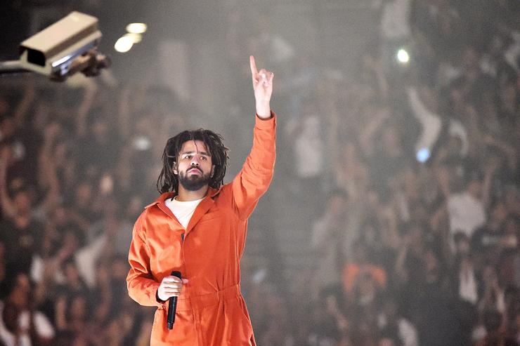 American hip-hop artist J. Cole performs at Barclays Center of Brooklyn